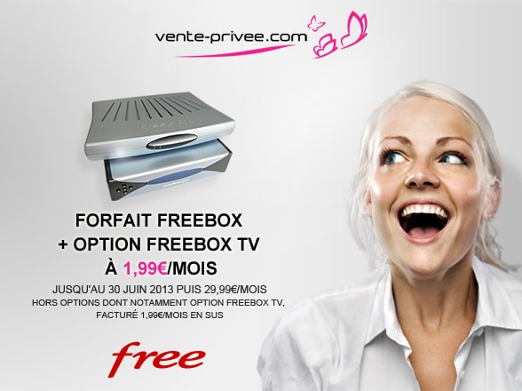 freebox v5 1 99 euro par mois en vente priv e adsl et fibre fr. Black Bedroom Furniture Sets. Home Design Ideas