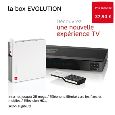sfr box evolution 14 90 euros par mois en vente priv e adsl et fibre fr. Black Bedroom Furniture Sets. Home Design Ideas