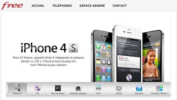 iPhone 4S chez Free mobile