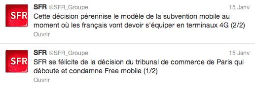 SFR - réaction Free Mobile