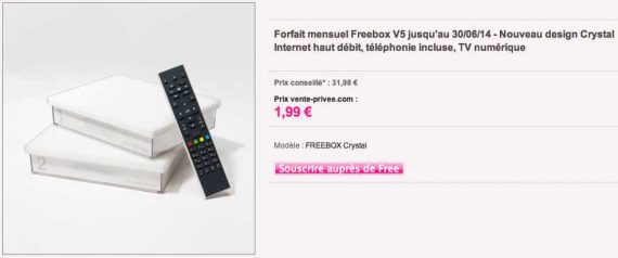 Freebox Crystal en vente privée