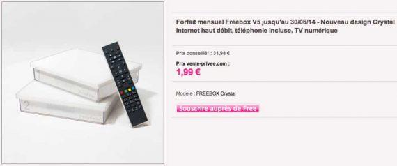 Freebox Crystal en vente privée