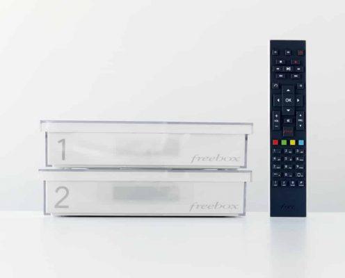 Freebox Crystal : boitiers et télécommande