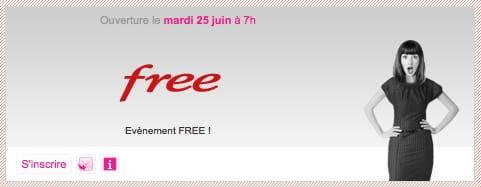 Annonce vente privée Free