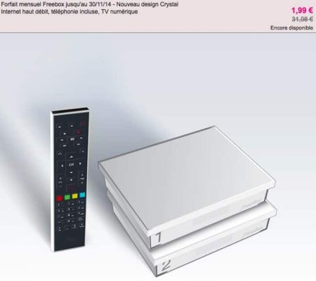 Vente privée Freebox Crystal – Automne 2013