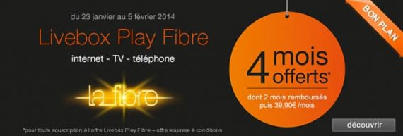 Vente flash Orange Livebox Play fibre optique : 4 mois offerts