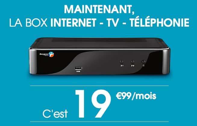 Bouygues Telecom : nouvelle offre à 19,99 euros / mois