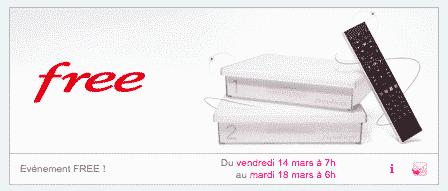 Freebox : nouvelle vente privée du 14 au 18 mars 2014
