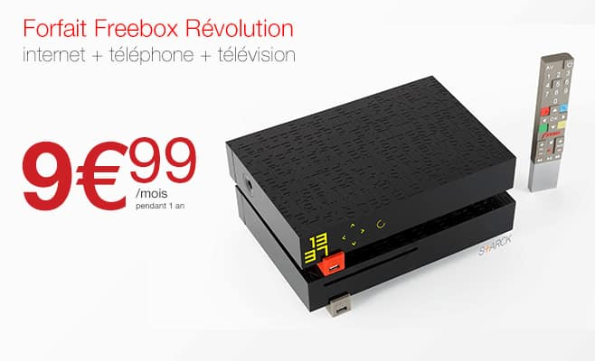 la freebox revolution pour la 1e fois en vente priv e 9 99 euros par mois adsl et fibre fr. Black Bedroom Furniture Sets. Home Design Ideas