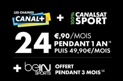 Promotion de lancement  pour les chaînes CANAL+ et Canalsat 100% Sport (du 5 août au 9 septembre 2014)