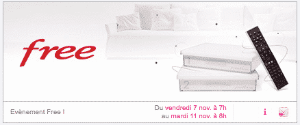 nouvelle vente priv e freebox partir de vendredi 7 novembre 2014 encore 1 99 euro par mois. Black Bedroom Furniture Sets. Home Design Ideas