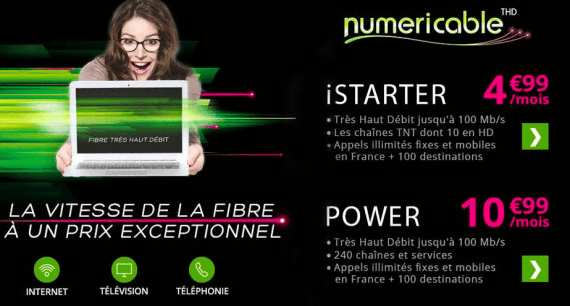 Numericable : vente showroomprive.com (juin 2015)
