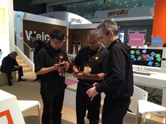 Stand Orange au Mobile World Congress 2015 Barcelone ©Orange