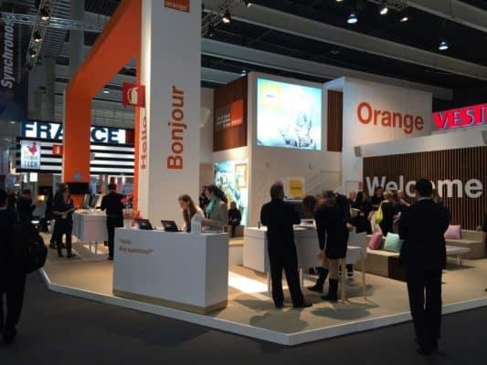 Stand Orange au Mobile World Congress 2015 Barcelone ©Orange