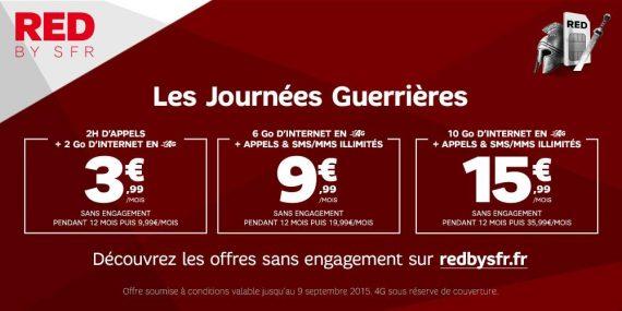 Red de SFR - Les offres guerrières (août 2015 - prolongations)