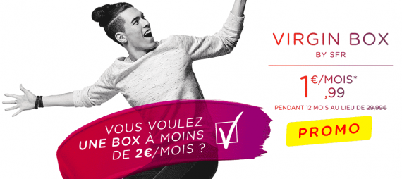 Virgin Box de Virgin Mobile : vente flash à 1,99 euro / mois
