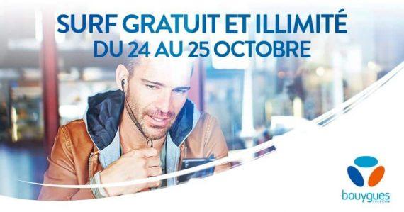 Bouygues Telecom : week-end illimité (24 et 25 octobre 2015)