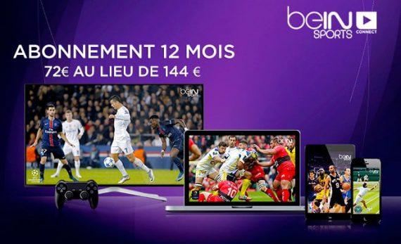 beIN Sports Connect (vente privée : 12 mois pour 72 euros)