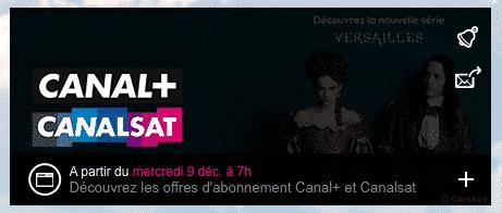 Vente privée Canal+ et Canalsat (décembre 2015)