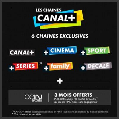 Vente privée Les Chaînes CANAL+ (décembre 2015)
