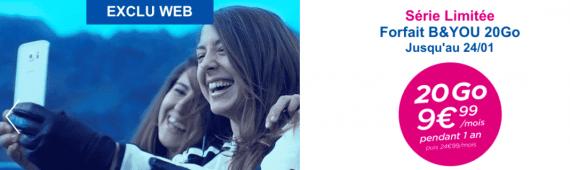 Bouygues Telecom : série limitée 20 Go