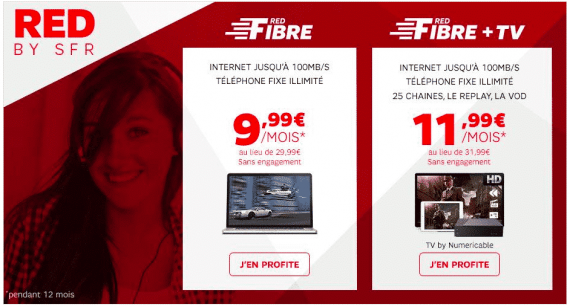 RED by SFR : vente fibre showroomprive.com (janvier 2016)