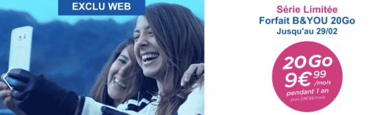 Bouygues Telecom : série limitée 20 Go (février 2016)