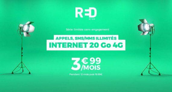 RED by SFR : forfait 20 Go à 3,99 euros / mois pendant 1 an (vente showroomprive.com)