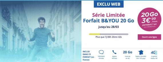 Bouygues Telecom : série limitée 20 Go (mars 2016)