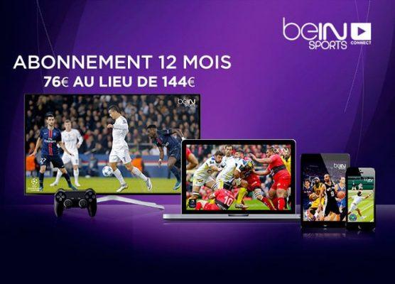 beIN Sports Connect (vente privée : 12 mois pour 76 euros)