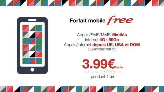 Vente privée Free mobile (mars 2016)
