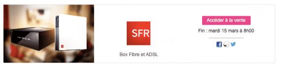 Vente showroomprivé SFR-Numericable (ADSL et fibre optique) - mars 2016