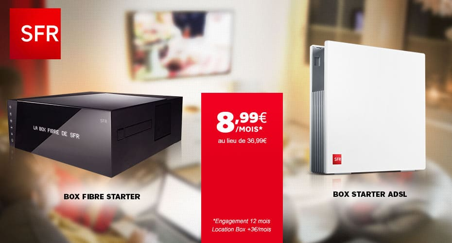 La box de sfr aussi en promotion en adsl ou fibre optique adsl et fibre fr - Vente privee numero telephone ...
