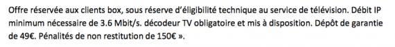 Vente showroomprivé (ADSL) : dépôt de garantie indiqué dans les mentions légales