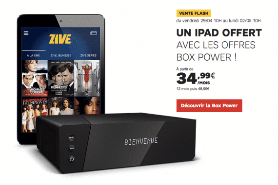 SFR (BOX) Fibre POWER : iPad mini offert