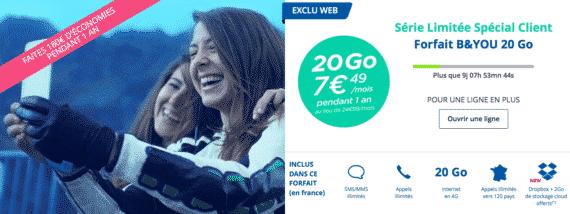 Bouygues Telecom : série limitée 20 Go (mai 2016)