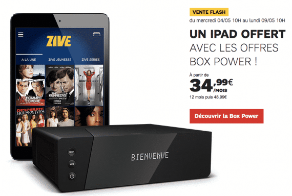 SFR (BOX) Fibre POWER : iPad mini offert (mai 2016)