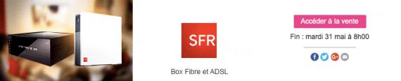 Vente showroomprivé SFR-Numericable (ADSL et fibre optique) - mai 2016