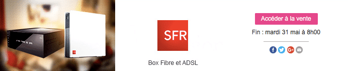 la box de sfr partir de 8 99 euros par mois en vente priv e adsl et fibre fr. Black Bedroom Furniture Sets. Home Design Ideas