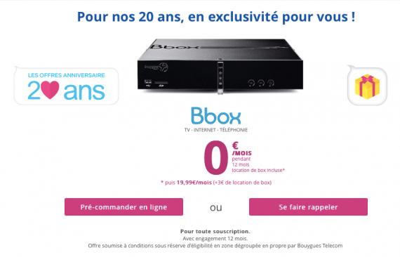 20 ans Bouygues Telecom : la Bbox offerte à certains clients pendant un an
