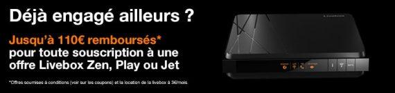 Orange Livebox : remboursement des frais de résiliation