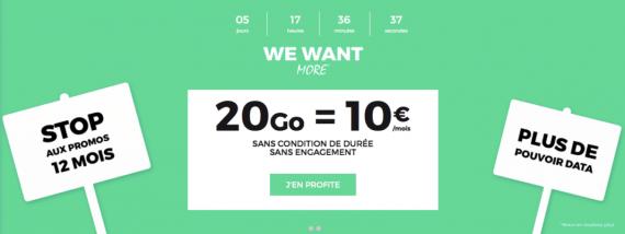 RED by SFR : forfait mobile 20 Go à 10 euros / mois (juillet 2016)