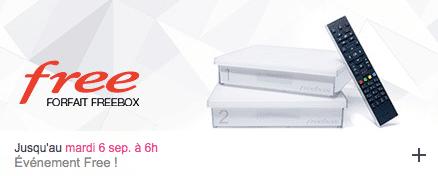 Free : vente privée Freebox août 2016 (prolongation)