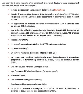 Freebox Révolution avec TV by CANAL Panorama (détails de l'offre)