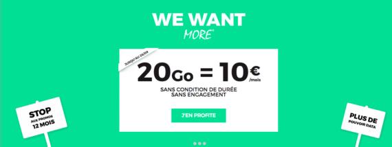 RED by SFR : forfait mobile 20 Go à 10 euros / mois (septembre 2016)