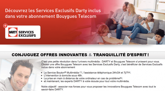 Les services exclusifs Darty / Bouygues Telecom