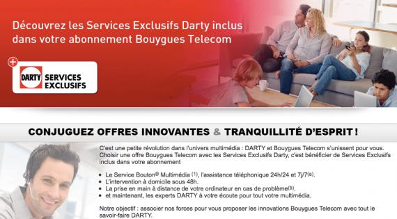Les services exclusifs Darty / Bouygues Telecom