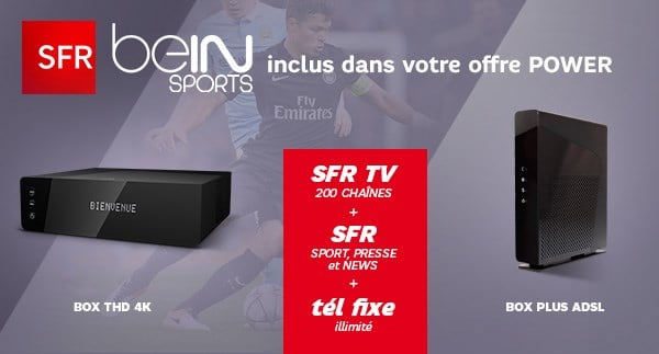 la box sfr bein sports 29 99 euros en vente priv e adsl et fibre fr. Black Bedroom Furniture Sets. Home Design Ideas