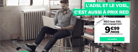 RED by SFR : remise de 20 euros / mois pendant un an sur la Box ADSL / VDSL2 (octobre 2016)