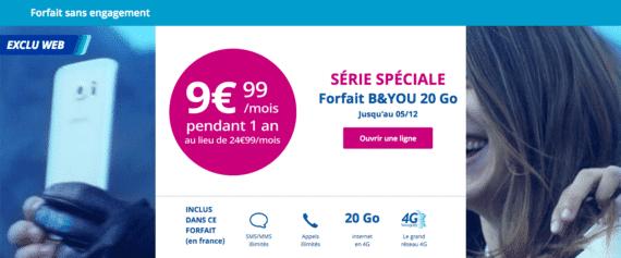 Bouygues Telecom : série limitée 20 Go (novembre 2016)